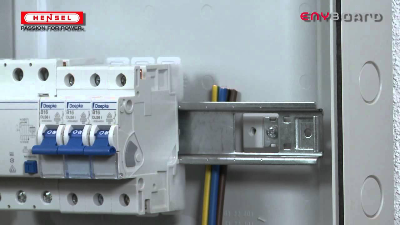 KV-Verdrahtung unter der Tragschiene / KV-Wiring under the DIN rail ...