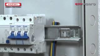 KV-Verdrahtung unter der Tragschiene / KV-Wiring under the DIN rail