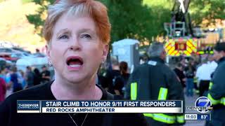 About 2,300 attend 9/11 memorial stair climb at Red Rocks