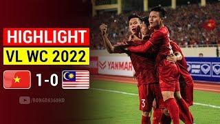 """Highlight Việt Nam 1 - 0 Malaysia: QUANG HẢI Ghi Siêu Phẩm Đẳng Cấp NHẤN CHÌM """"Hổ Giấy"""" Malaysia"""