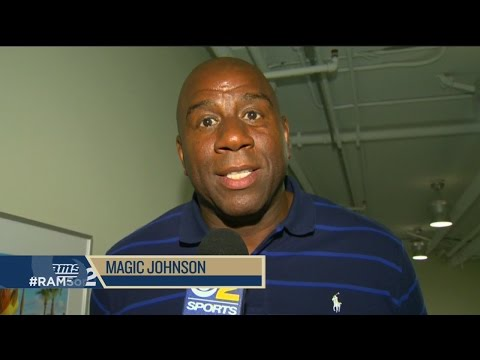 Rams Coach Jeff Fisher Fields A Question From Magic Johnson