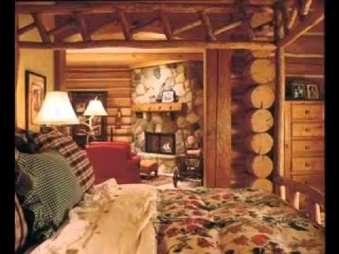 Cabin bedroom design decorating ideas - YouTube
