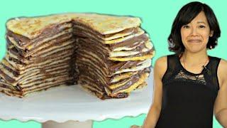 Nutella TORTILLA Mille Crepe Cake - Kenny Shopsin Tribute