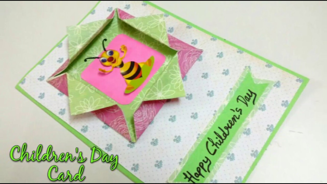 Childrens Day Greeting Card Making Idea How To Craftlas Youtube