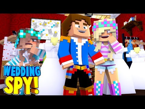EX GIRLFRIEND ASHLEY SPIES ON LEAH BUYING HER WEDDING DRESS!! Minecraft Roleplay