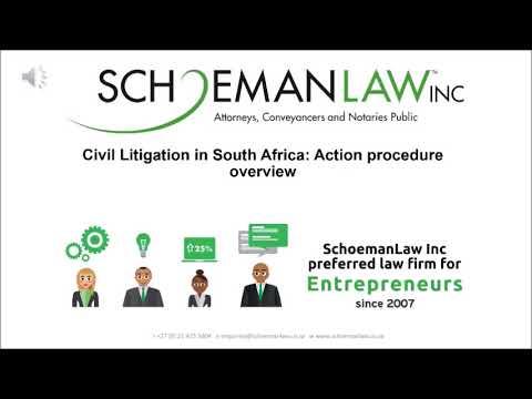 Slide Share - Civil Litigation in South Africa