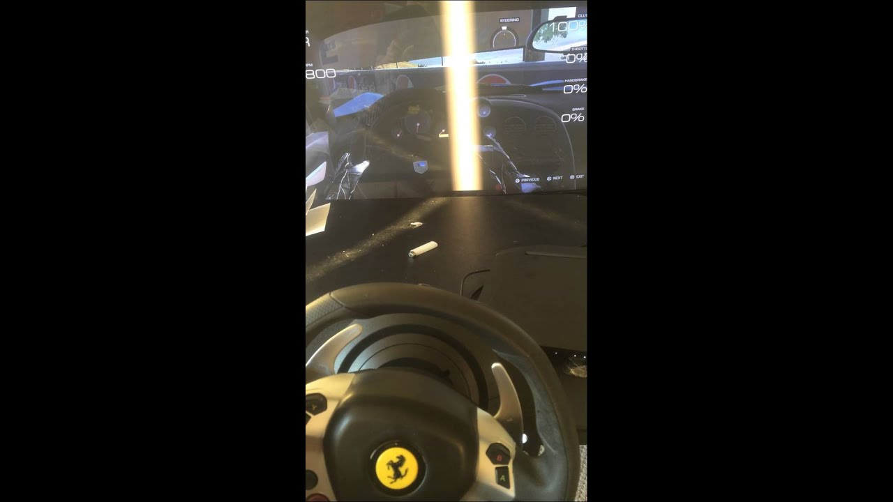 part1 thrustmaster TX steering wheel calibration caused steering wheel not  straight