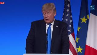 AMAZING MUST WATCH: President Donald Trump Speech In Paris, France 7/13/2017 TRUMP OWNS THE STAGE