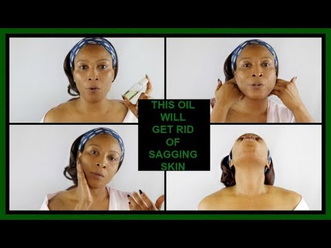 HOW TO GET RID OF SAGGING JAWLINE AND NECK | MIRACLE OIL FOR TIGHTENING LOOSE SKIN |Khichi Beauty
