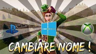 COME CAMBIARE NOME SU FORTNITE ! (PS4, XBOX ONE, PC)