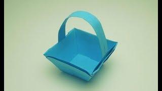 как сделать бумажную корзину