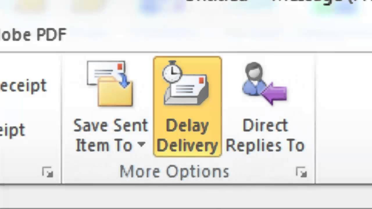 microsoft outlook delay delivery
