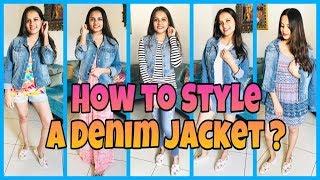 *How to Style DENIM JACKET ?* | Different ways to wear a Jean Jacket | Dhruva Gandhi