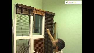 видео Вертикальные деревянные жалюзи