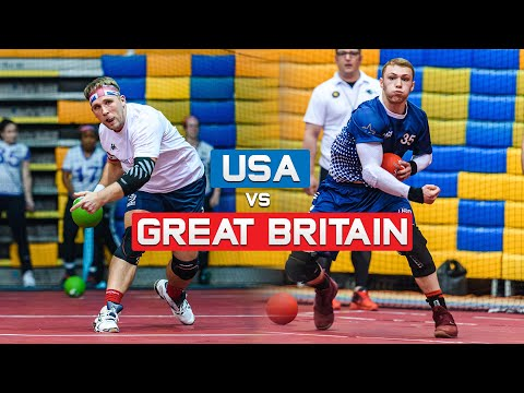 USA Vs Great Britain Match Highlights | 2019 Dodgeball World Championships | Day 2