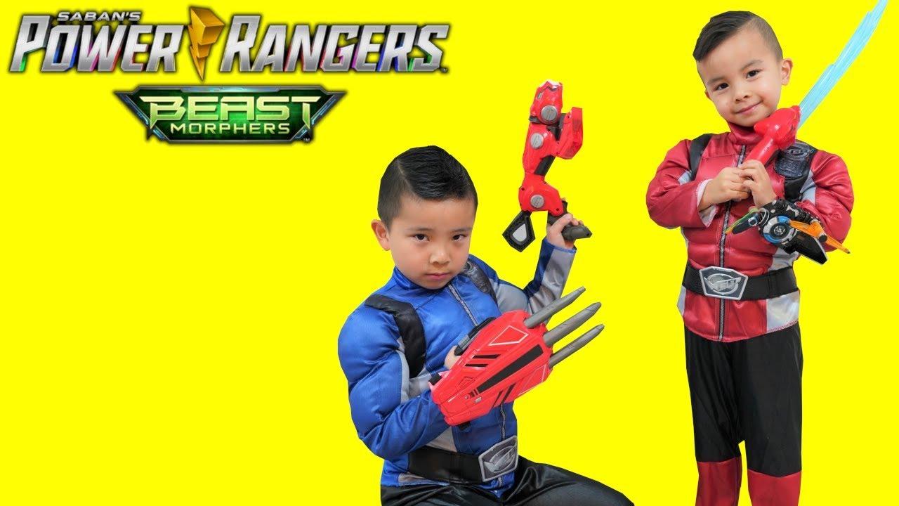 Power Rangers Beast Morphers Gear Test With CKN Toys