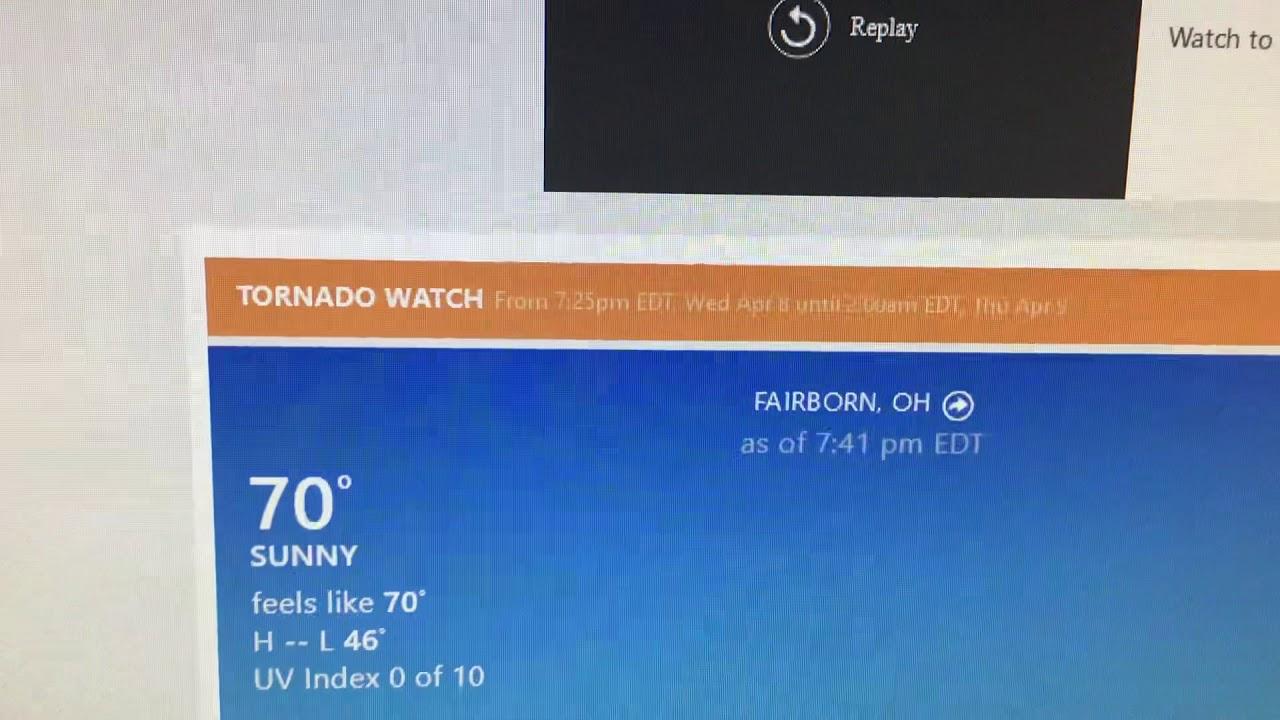 Tornado Warning issued for Greene, Montgomery and Warren ...