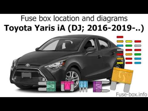 fuse box location and diagrams toyota yaris ia dj 2016. Black Bedroom Furniture Sets. Home Design Ideas
