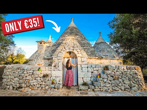 Luxury Tiny House On A Budget | Puglia Southern Italy Traditional Trullo Home