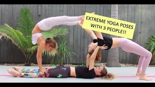 Liv, Jena and I did an EXTREME yoga challenge! Watch the video to s...