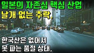 일본의 자존심 핵심 산업 날개 없는 추락. 한국산은 없어서 못 파는 품절 상태.