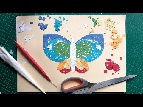 Kolase Kertas Kupu Kupu Paper Collageart Butterfly Youtube