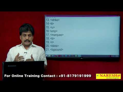 Deprecated Elements - HTML | Web Technologies Tutorial | Mr.Subbaraju