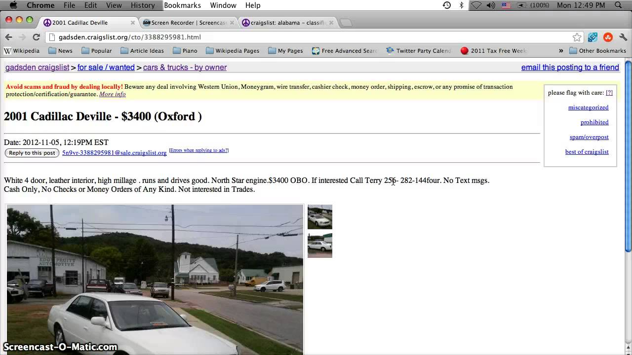 Craigslist Anniston Alabama Used Cars for Sale by Owner  Popular
