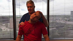 Chiropractic Adjustment On Mountainview CA Man By Houston Chiropractor Dr Gregory Johnson