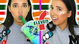 Full Face Of 7-ELEVEN Makeup 💄💋 - IS IT AWFUL?? HONEST Review & Test | Mar