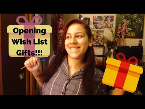 Opening Wish List Gifts!