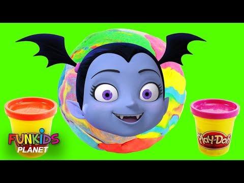 GIANT Vampirina Magical Rainbow Play Doh Surprise Egg