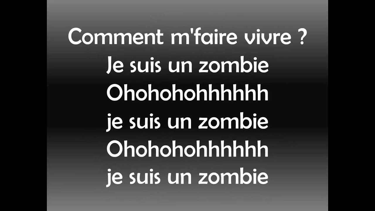 Maitre Gims Zombie Official Lyrics Video Hd Youtube