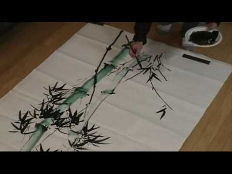 Here is the Full Version of this Large Bamboo Painting in Normal Speed