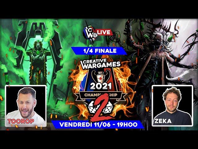 Creative Wargames Championship 2 - 1/4 de finale Nécrons VS Drukhari