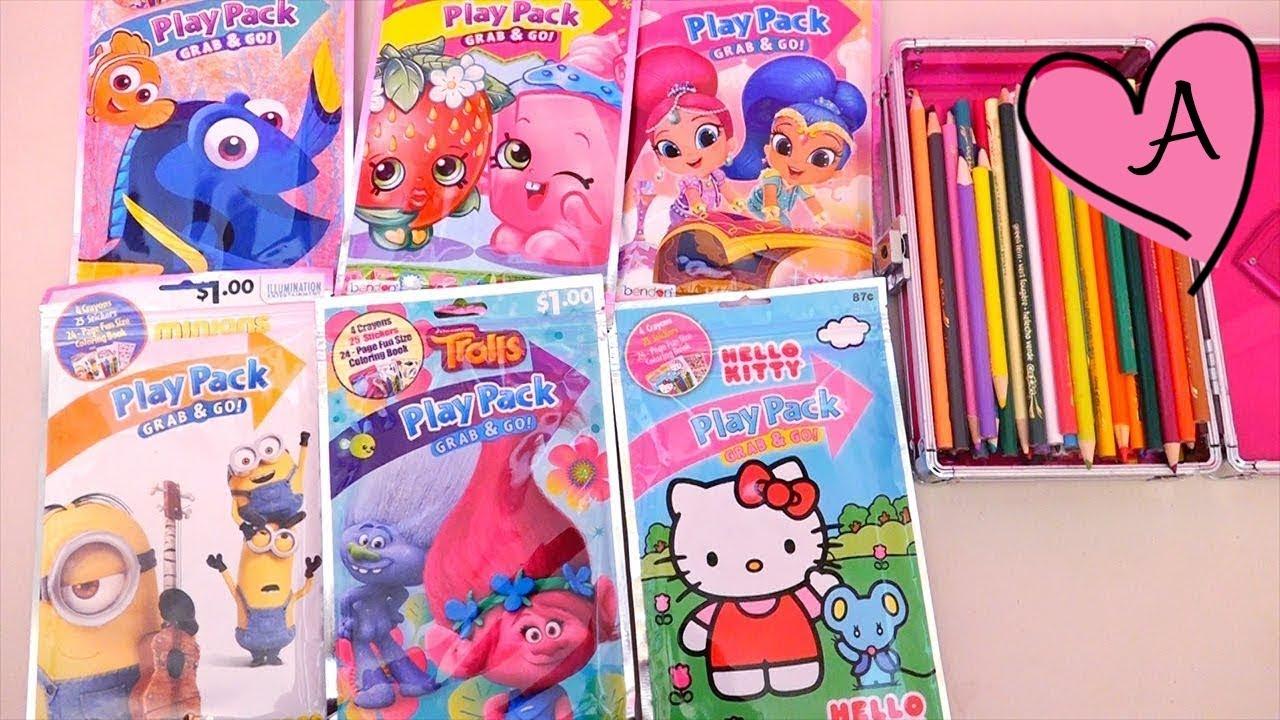 Dibujos para colorear para niños de Trolls, Hello Kitty, Shimmer ...