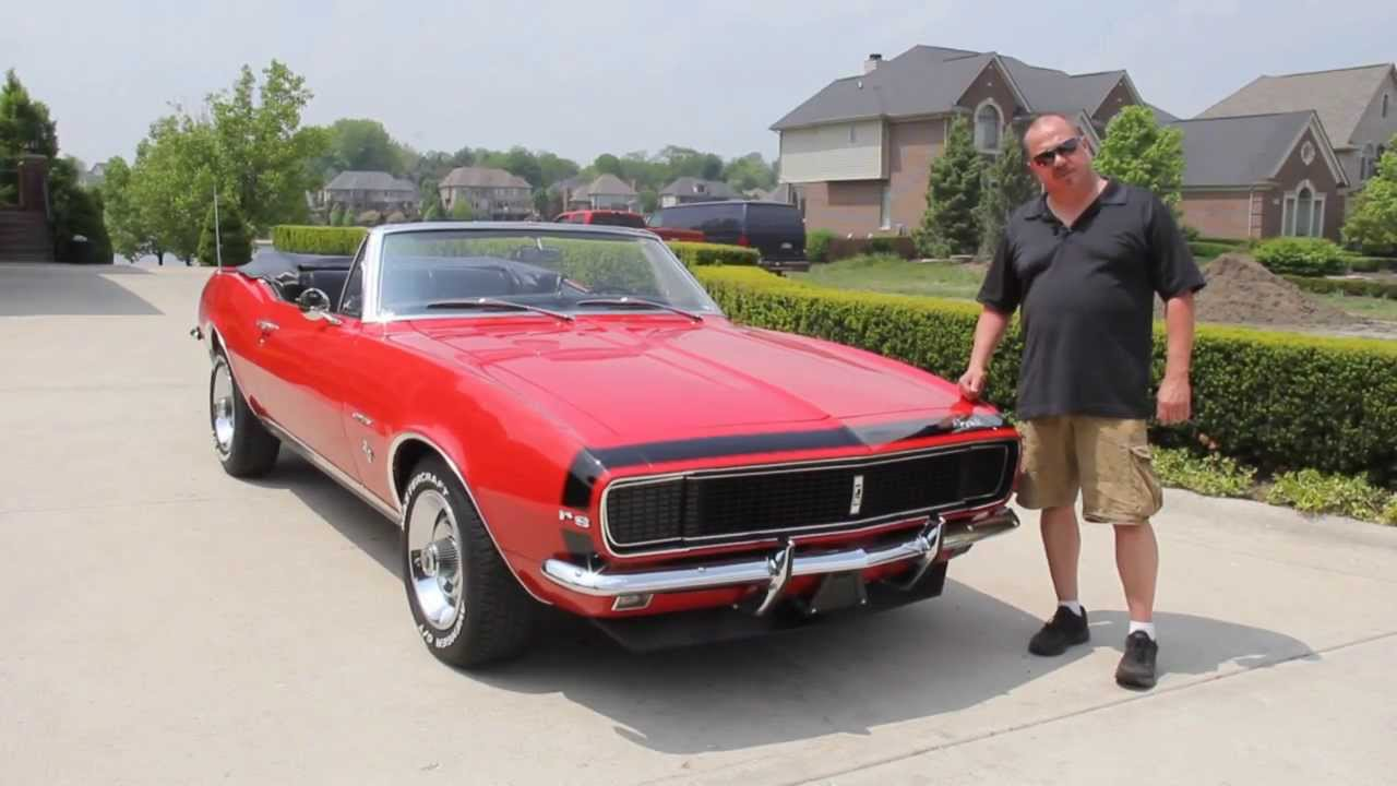 1967 Chevy Camaro Rs Convertible Classic Muscle Car For