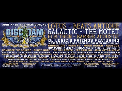 Disc Jam Music Festival 2018 Lineup Announcement