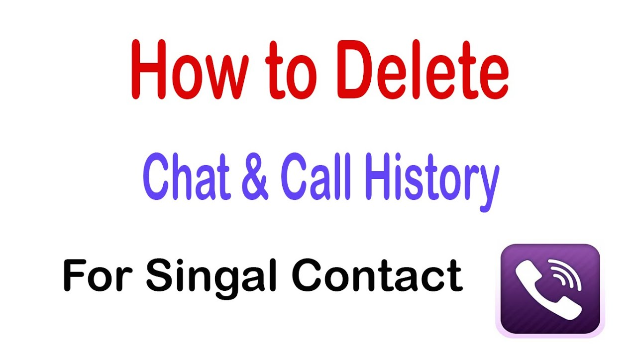 How to delete chat call history for a single contact on viber how to delete chat call history for a single contact on viber ccuart Choice Image