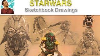 STARWARS Sketchbook Drawings