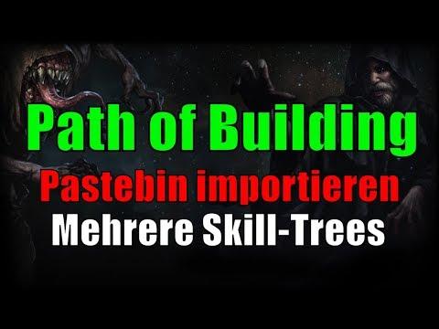 [3 1] Path of Building / Pastebin Links importieren, multiple Skill-Trees  anzeigen - PoE Abyss