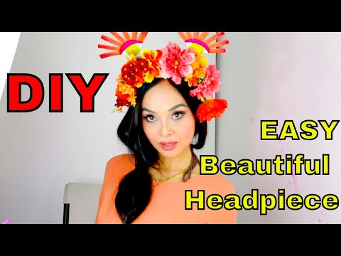 DIY !!  Easy Floral Headpiece/headband 2017 tutorial! 😍 See how!