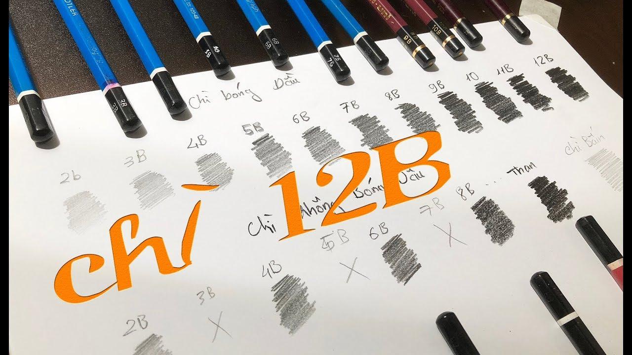 17 loại Bút Chì vẽ chân dung 4 LƯU Ý khi phối chì với nhau / DP Truong