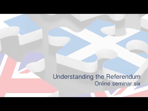 Understanding the referendum - Online seminar six