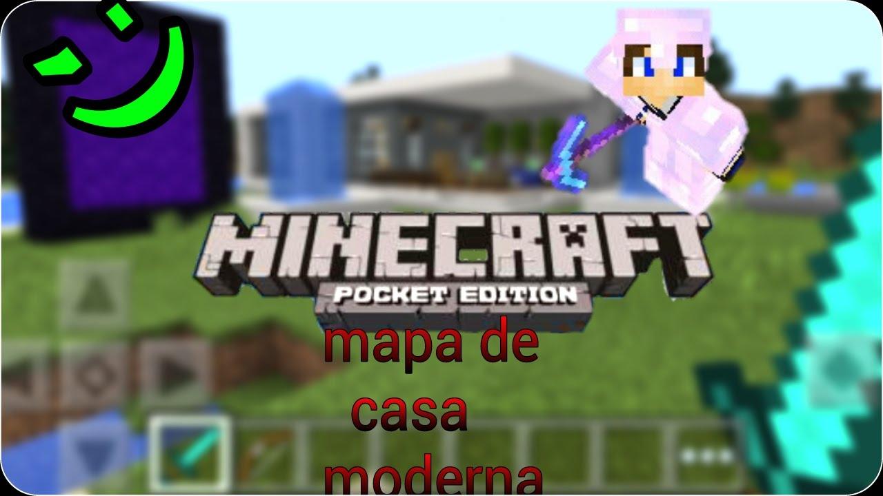 Mapa De Casa Moderna Para Minecraft Pe Youtube
