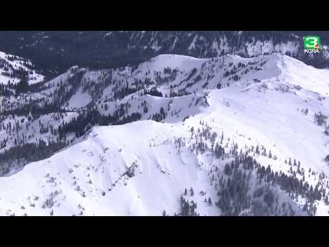 Raw: Aerial video of Alpine Meadows following mid-morning avalanche that killed one