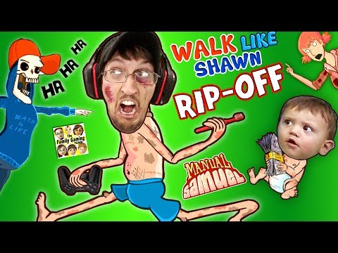 WALK LIKE SHAWN Video Game Rip-Off?! FGTEEV HILARIOUS Funny Fails w/ Manual Samuel the DOOFY ZOMBIE