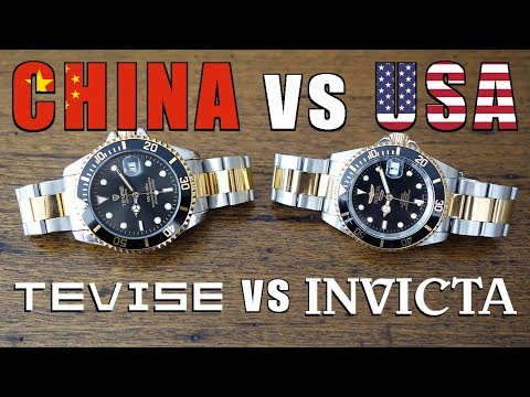 Budget Automatic Watch Duel! Tevise T801A vs Invicta Pro Div