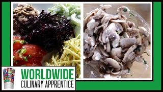 Mushroom, and Ratatouille Salad, with Scallion Oil-Online Cooking School