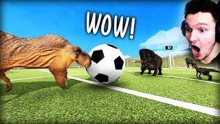 DINOSAURIER SPIELEN FUßBALL... viele, sehr viele sterben.. !!! | Beast Battle Simulator (Part 2)